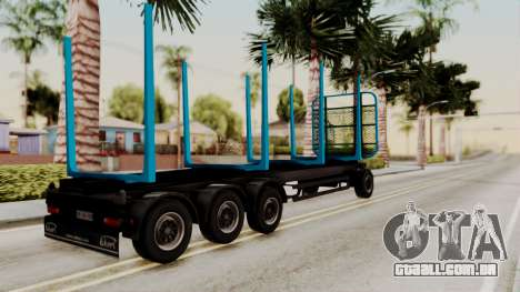 Wood Transport Trailer from ETS 2 para GTA San Andreas esquerda vista