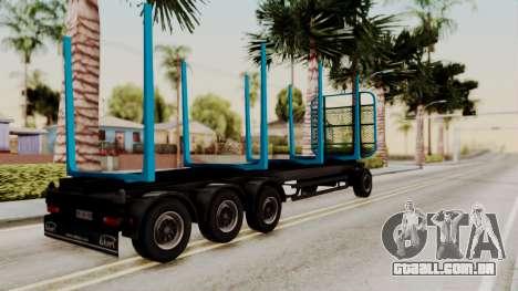 Wood Transport Trailer from ETS 2 para GTA San Andreas esquerda vista