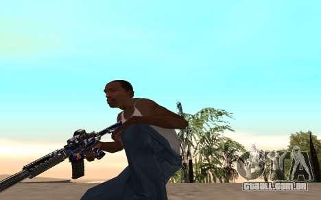 M4 c filhote para GTA San Andreas por diante tela