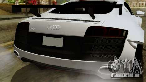 Audi R8 v1.0 Edition Liberty Walk para vista lateral GTA San Andreas