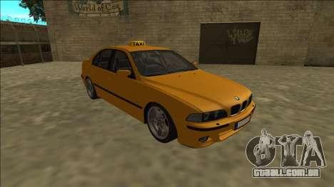 1999 BMW 530d E39 Taxi para GTA San Andreas vista traseira