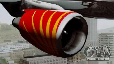 Airbus A320-200 Air India para GTA San Andreas vista direita