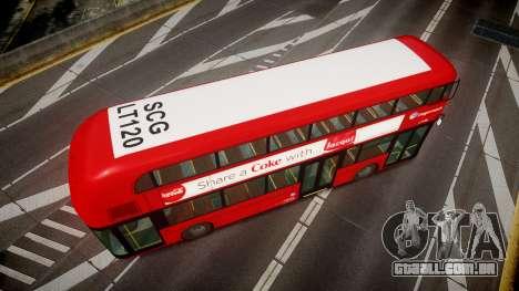 Wrightbus New Routemaster Stagecoach para GTA 4 vista direita