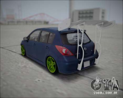 Nissan Tiida Drift Korch para GTA San Andreas traseira esquerda vista