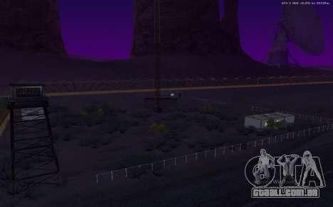 Nova Base Militar v1.0 para GTA San Andreas oitavo tela