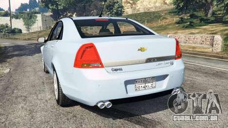 GTA 5 Chevrolet Caprice LS 2014 traseira vista lateral esquerda