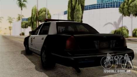 Ford Crown Victoria LP v2 LSPD para GTA San Andreas esquerda vista
