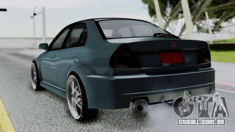Mitsubishi Lancer Evolution Turbo para GTA San Andreas esquerda vista