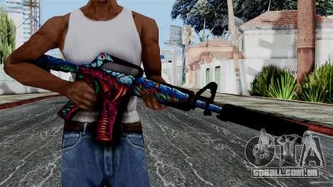 M4A1-S Hyper Beast para GTA San Andreas terceira tela