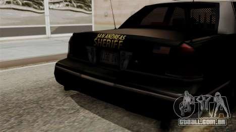 Ford Crown Victoria LP v2 Sheriff para GTA San Andreas vista direita