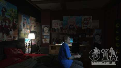 GTA 5 Anime cartazes para a casa de Michael segundo screenshot