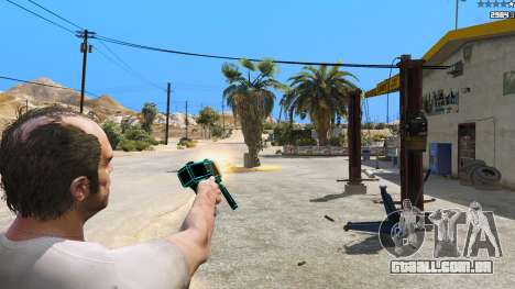 GTA 5 Saints Row 3 Cyber SMG Emissive v1.01 quarto screenshot