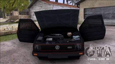 Volkswagen Golf Mk2 Line para GTA San Andreas vista superior