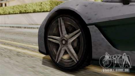 GTA 5 Progen T20 SA Style para GTA San Andreas traseira esquerda vista