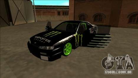 Nissan 200SX Drift Monster Energy Falken para o motor de GTA San Andreas