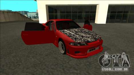 Nissan Skyline R33 Fairlady para vista lateral GTA San Andreas
