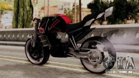 Byson Street Fighter para GTA San Andreas esquerda vista
