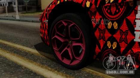 Lamborghini Aventador LP-700 Batik para GTA San Andreas traseira esquerda vista