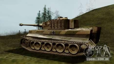 Panzerkampfwagen VI Ausf. E Tiger para GTA San Andreas esquerda vista