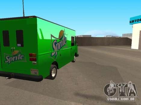 Boxville Sprite para GTA San Andreas esquerda vista