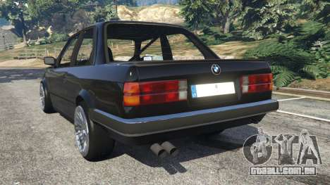 GTA 5 BMW E30 1983 M-Tech 1 [Beta] traseira vista lateral esquerda