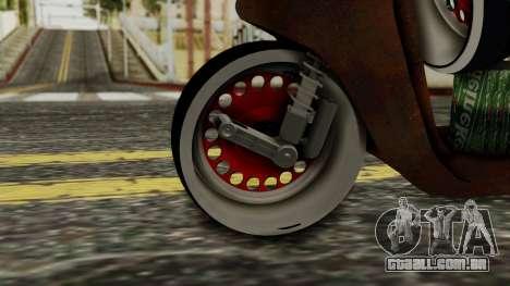 Zip SP Rat Style para GTA San Andreas traseira esquerda vista