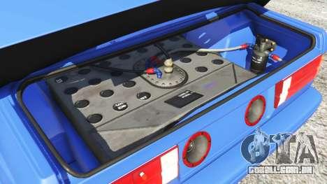 GTA 5 BMW M3 (E30) 1991 frente vista lateral direita