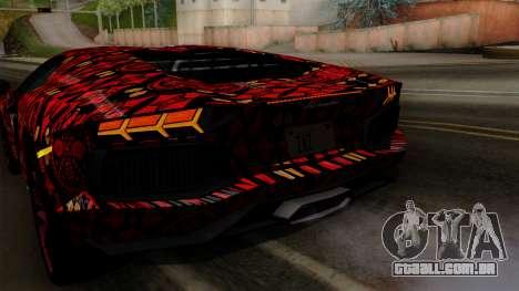 Lamborghini Aventador LP-700 Batik para o motor de GTA San Andreas