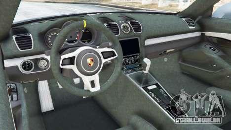 GTA 5 Porsche Cayman 2016 vista lateral direita