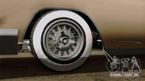 Vapid Peyote Bel-Air para GTA San Andreas traseira esquerda vista