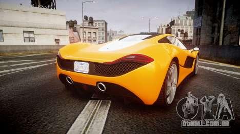 GTA V Progen T20 para GTA 4 traseira esquerda vista
