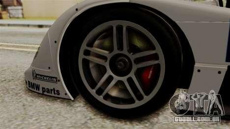 BMW V12 LMR 1999 Stock para GTA San Andreas traseira esquerda vista