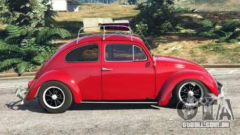 GTA 5 Volkswagen Beetle 1963 [Beta] vista lateral esquerda