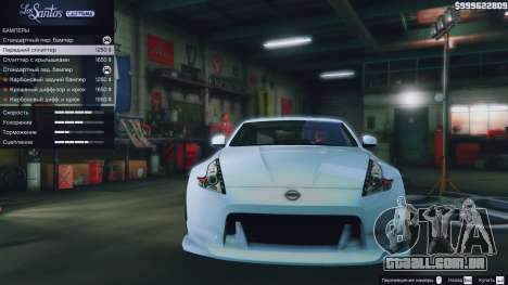 GTA 5 Nissan 370z traseira direita vista lateral