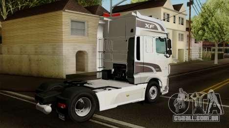 DAF XF Euro 6 SSC para GTA San Andreas esquerda vista