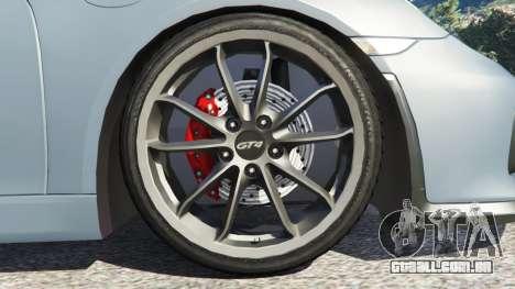 GTA 5 Porsche Cayman 2016 traseira direita vista lateral