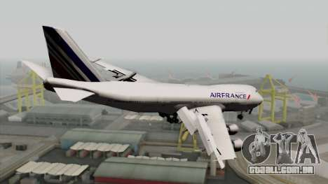 Boeing 747-200 Air France para GTA San Andreas esquerda vista