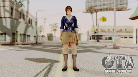 DOA 5 Kasumi Blue Sweater para GTA San Andreas segunda tela