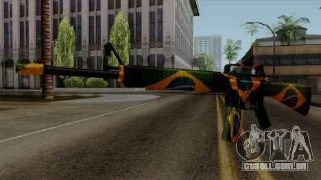 Brasileiro M4 v2 para GTA San Andreas segunda tela