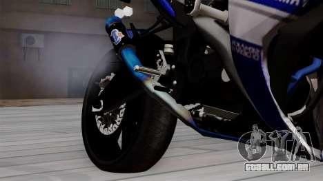 Yamaha YZF R-25 GP Edition 2014 para GTA San Andreas vista direita