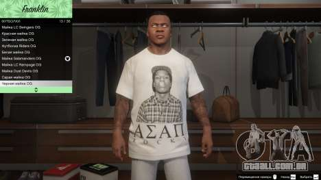 Franklin Hip Hop T-Shirts para GTA 5