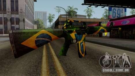 Brasileiro M4 v2 para GTA San Andreas terceira tela