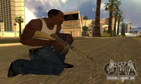 GTA 5 Gusenberg Sweeper para GTA San Andreas terceira tela