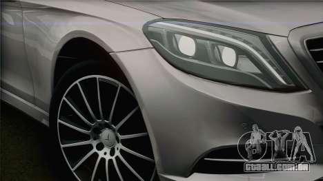Mercedes-Benz S500 W222 para GTA San Andreas vista direita