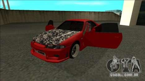 Nissan Skyline R33 Fairlady para GTA San Andreas vista traseira