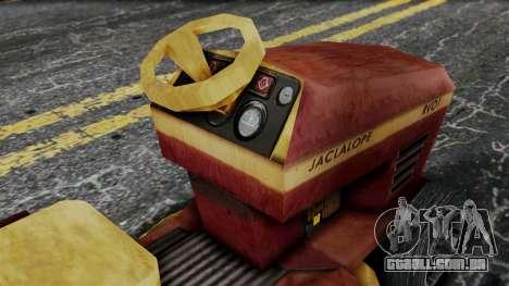 Mower from Bully para GTA San Andreas vista direita
