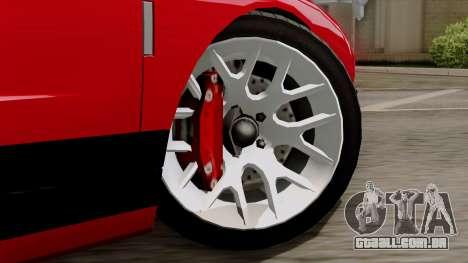 Vapid Bullet GT-GT3 para GTA San Andreas traseira esquerda vista