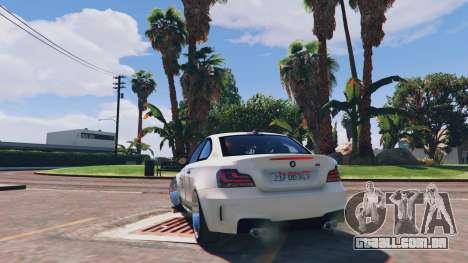 GTA 5 BMW 1M v1.0 traseira vista lateral esquerda