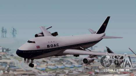 Boeing 747-100 British Overseas Airways para GTA San Andreas