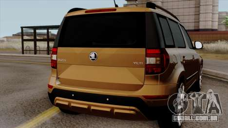 Skoda Yeti 2014 para GTA San Andreas vista direita